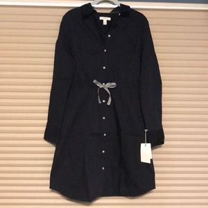 Navy blue shirt dress. New with tags.
